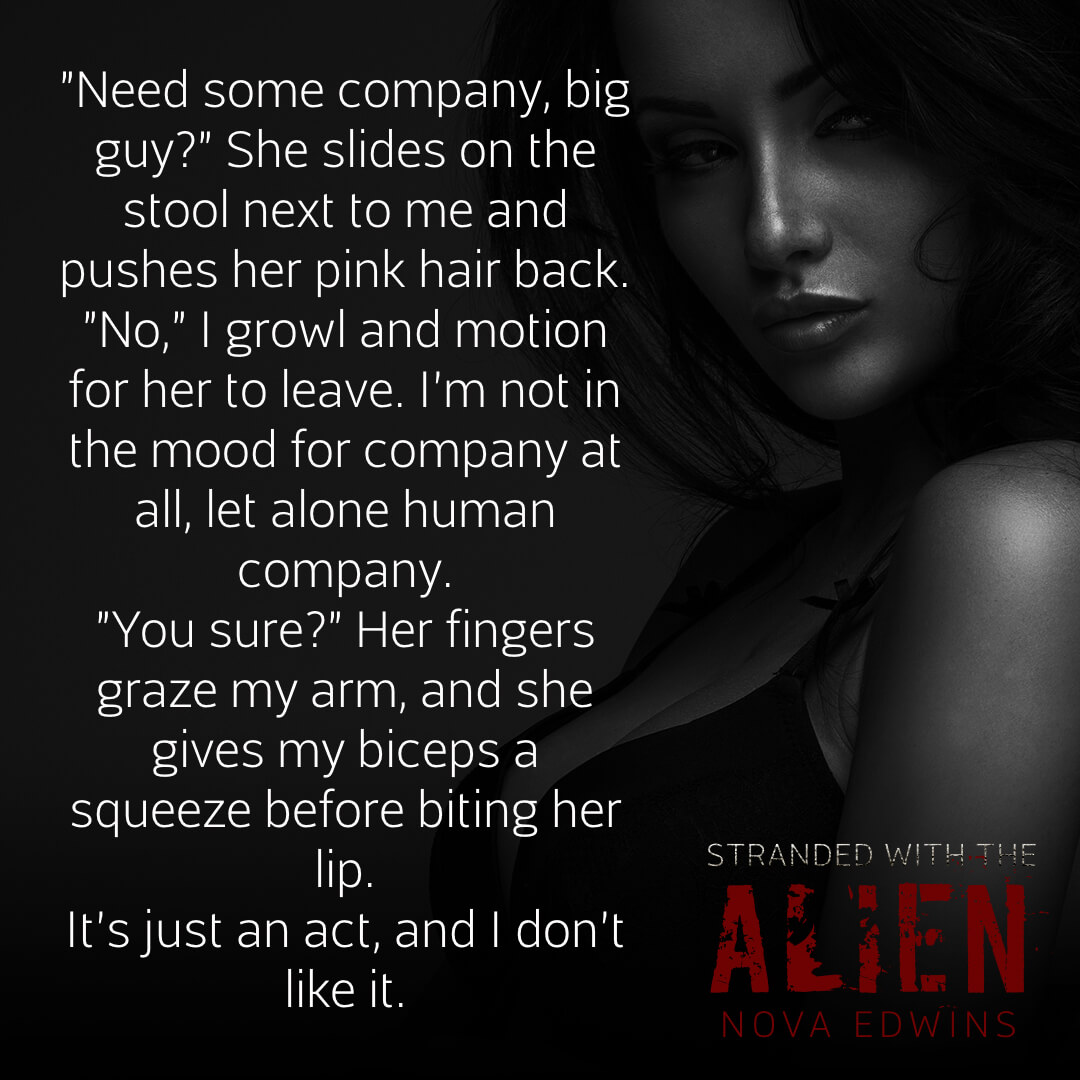 A text teaser for the dark sci-fi novella stranded with the alien