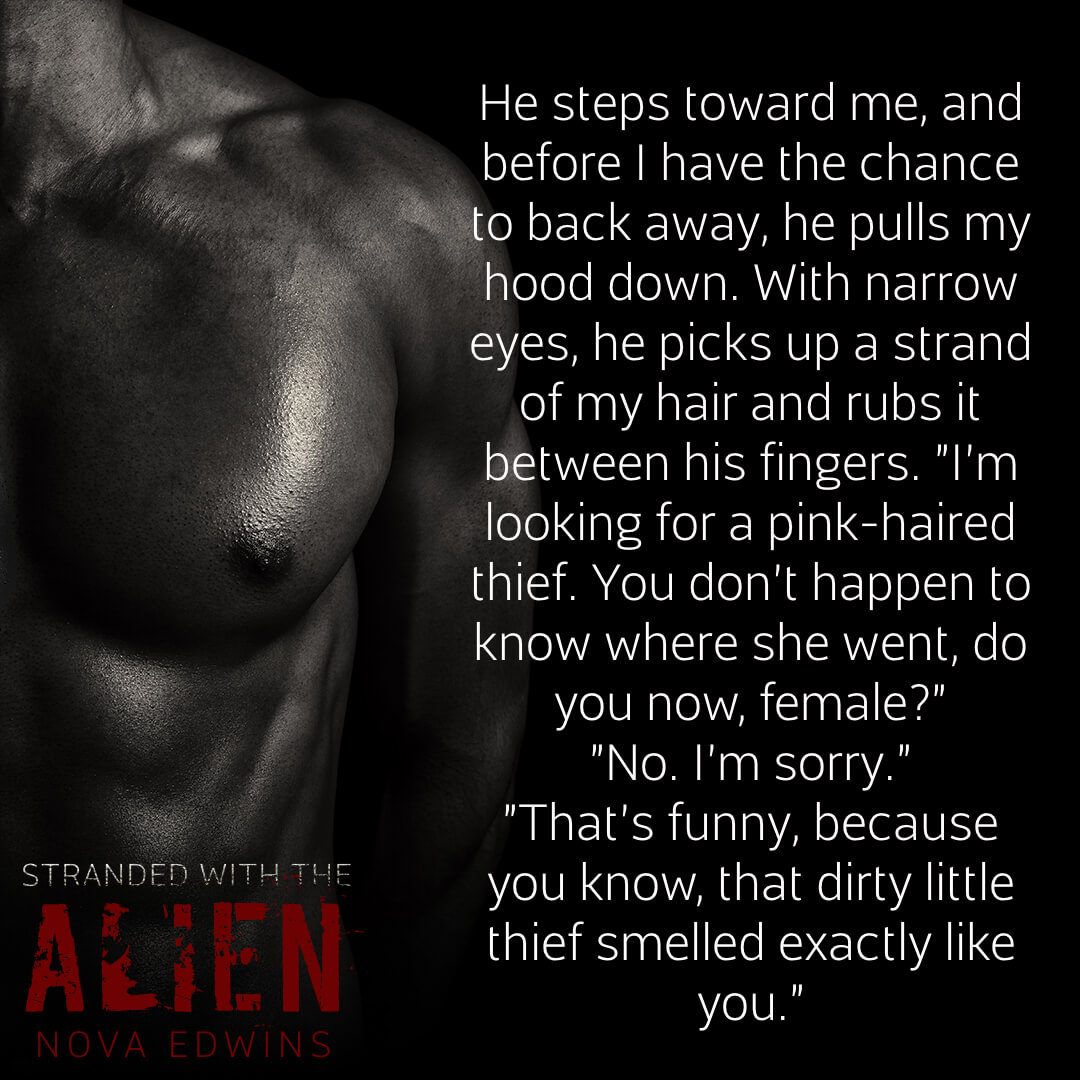 a male torso next to a teaser from bestselling writer nova edwins' new novella